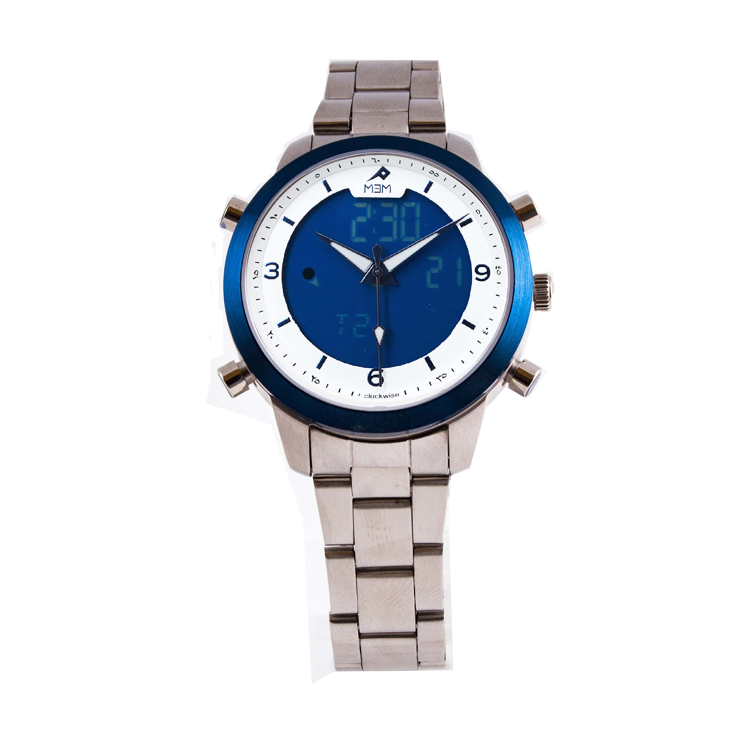 Mem aqua couple blue bezel mem watches malaysia for Aqua marine watches
